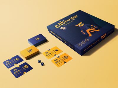 Catburglar Board Game Mockup