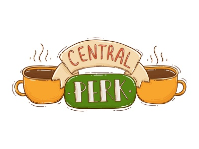 Central Perk cups coffee sitcom tvshow friends central perk