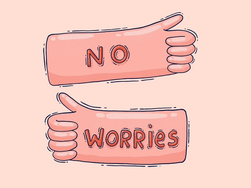 No worries t shirt design apparel design print design digital illustration illustration be cool hands thumbs up hakuna matata no worries