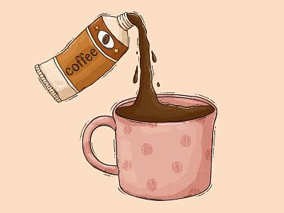 Coffee Paint Tube testure fuel artsy imagine caffeine pain tube paint mug cup coffee illustration