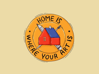 Home is where your ART is supplies texture brushes pencil textures illustration crest artist home