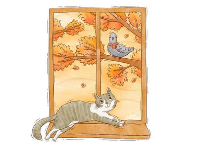 Autumnal cat