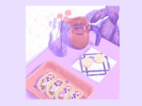 8 week -stillherestilllife art artwork illustration