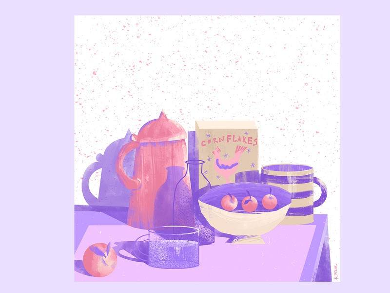 14 week  - stillherestilllife art artwork illustration