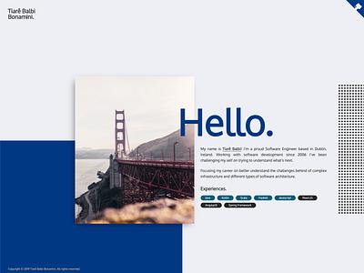 Tiarê Balbi Bonamini - Personal Website design branding web ui open-source sketch single-page website site