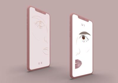 Artistic UX/UI Concept Illustration