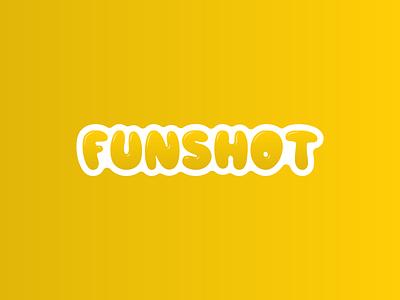 """""""FunShot"""" App Logo branding logo"""