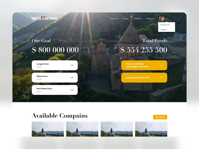 Donate for Artsakh design ux ui  ux uidesign ui uiux