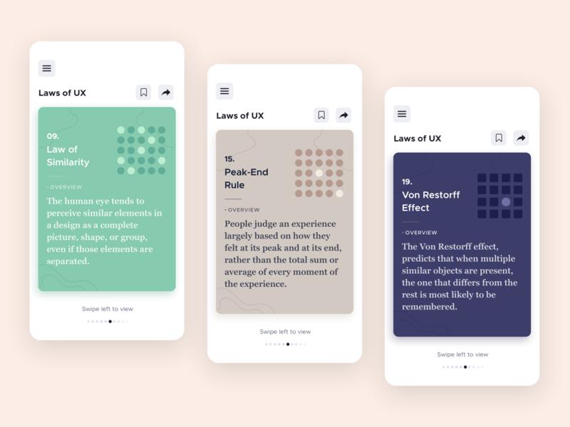 Laws of UX icon design illustration product design figma app sketch ui ux minimal design