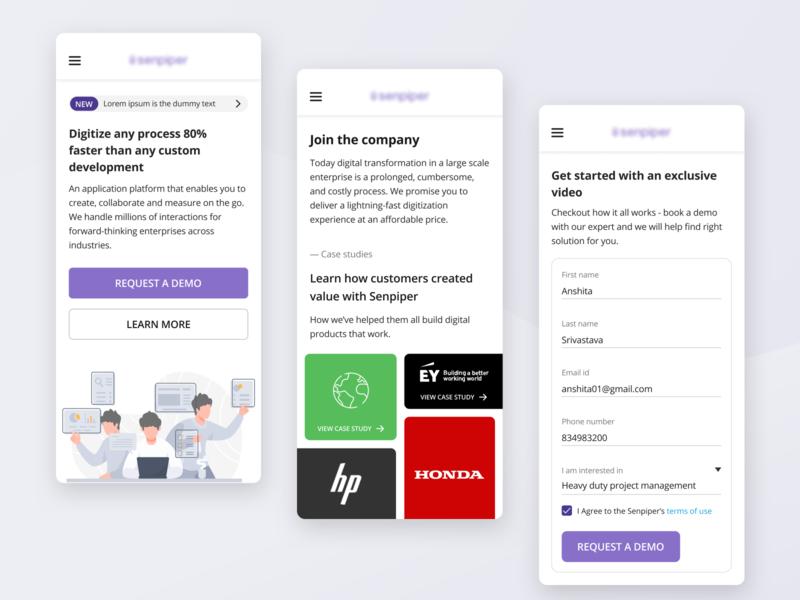 Responsive web design figmadesign flat web web design product design sketch ux ui minimal design