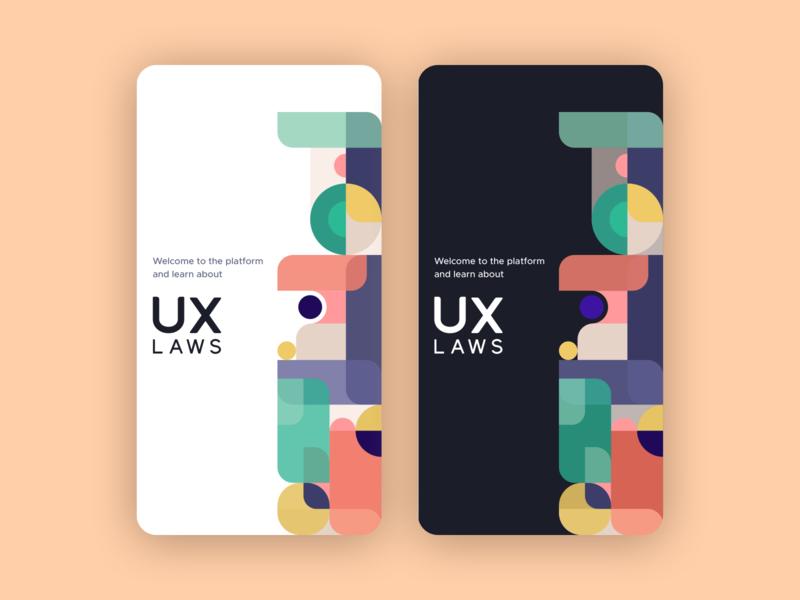 Splash screen geometric design vector illustration figmadesign product design app ui minimal design