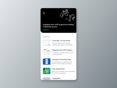 Portfolio app conceptual design