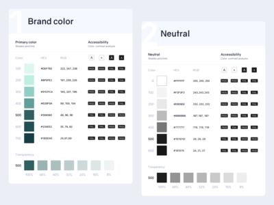 UI kit | Color accessibility palette ui kit design system color palette branding ux sketch ui vector minimal design