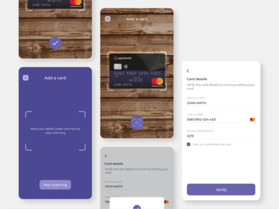 Add card check out flow