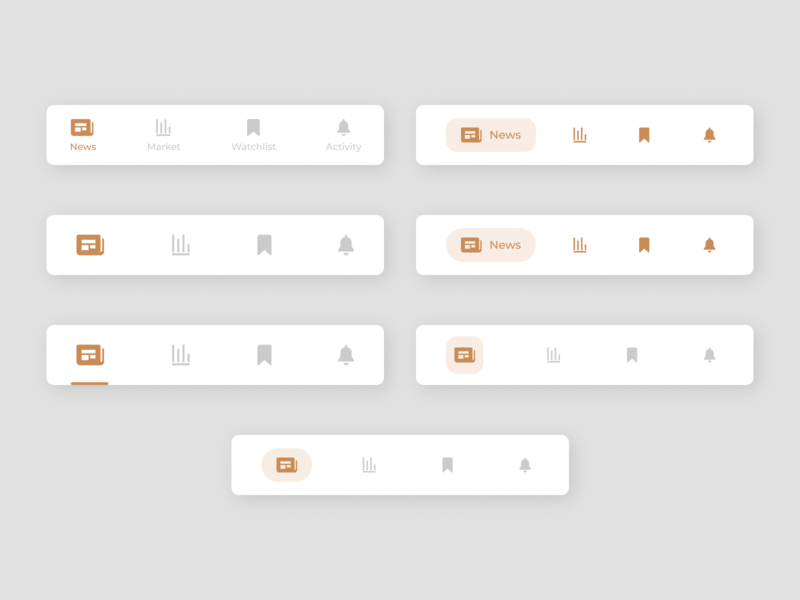 Bottom navigation bar productdesign dailyui figmadesign app ux sketch ui minimal design