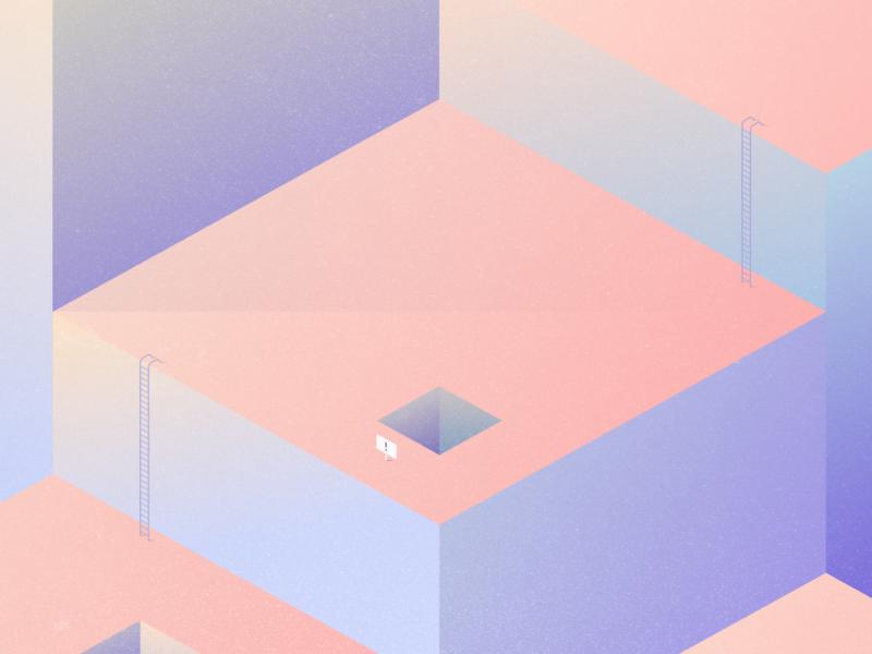 The Importance of User Experience ux design web design graphic ui ux geometric lavendar peach pastel art illustration