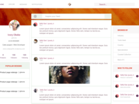 Social feed homepage design