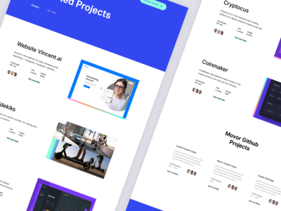 Movor - Projects Page