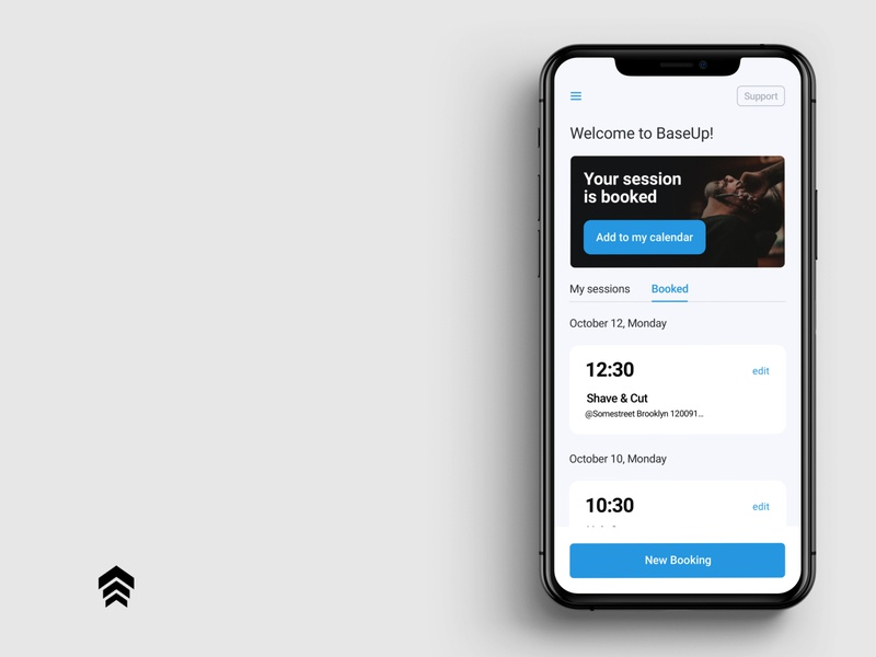 BaseUp Booking Widget card design cards cards ui appointment booking appointment calendar mobile app design booking app booking clean uidesigner mobile design mobile app mobile ui webapp design uiux uiuxdesign userinterface ui