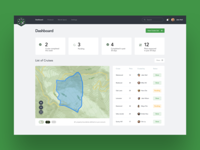 Canopy Dashboard - Cruise Management App