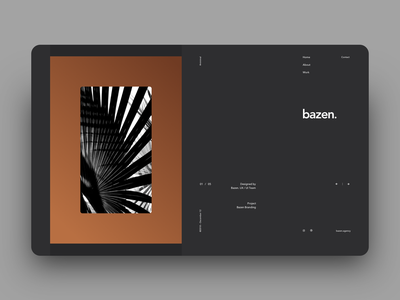 Bazen. Website Experimenting - Hrvoje Grubisic Rebound portfolio website clean rebound black dark grid minimal logo typography ui design dashboard