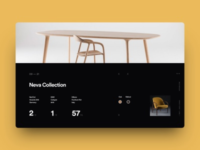 Furniture Website - Collection Page website ux oak wood furniture yellow branding logo typography minimal clean ui design dashboard