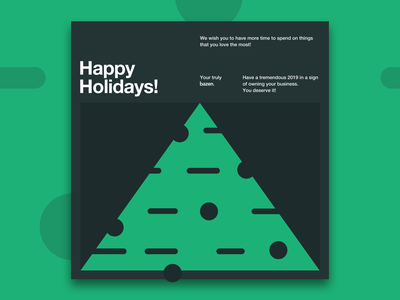 Happy Holidays branding new year christmas card christmas clean typography ux illustration tree green cards website minimal ui design