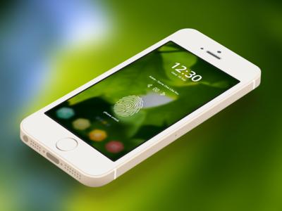 Lock Screen - dpnto Mobile Ui