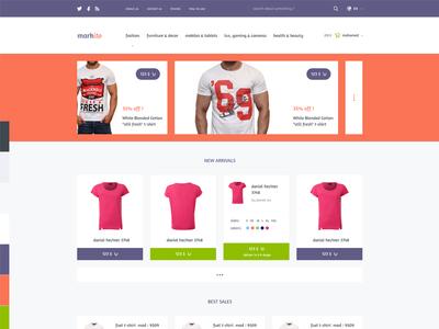Markito - Freebie Shopping  psd template