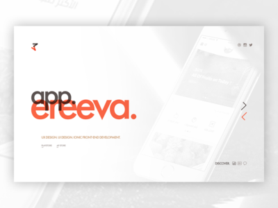 CRTIVO - Portfolio Page website user interface user experience crtivo icons personal ui ux portfolio projects slider show