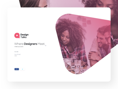 Design Talks home ui website one page ux intro featured logo branding landing page comingsoon talks design