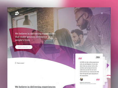 Hued Digital - POC website home animation one page video featured qoutes casestudy blog digital services corporate ui ux