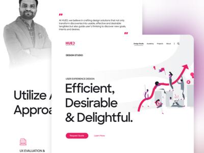 HUED website - Service's Single Page