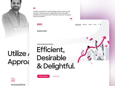 HUED website - Service's Single Page design slider website branding ux ui menu animation one page scrolling singlepage service