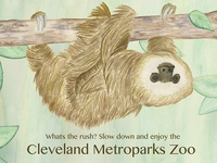 Cleveland Zoo Poster