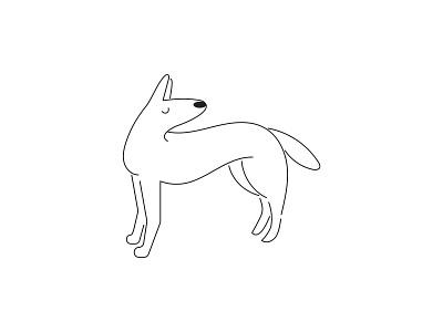Sulley outline line art graphic design illustration illustrator pet dog husky