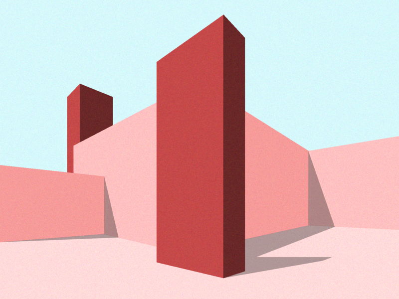 Architecture design bulding méxico mexico luis barragán architecture vector minimal illustration