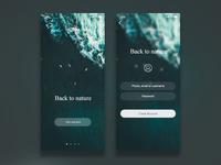Daily UI challenge #001 - Nature App