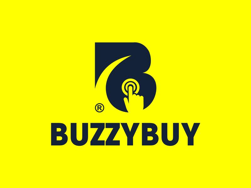 BuzzyBuy logo b logo creative online store online shop tech minimalist logomark free buy cart shopping shop logotype mark logo avitive monogram branding