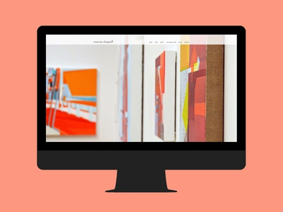 MS visual artist painter mock-up web design