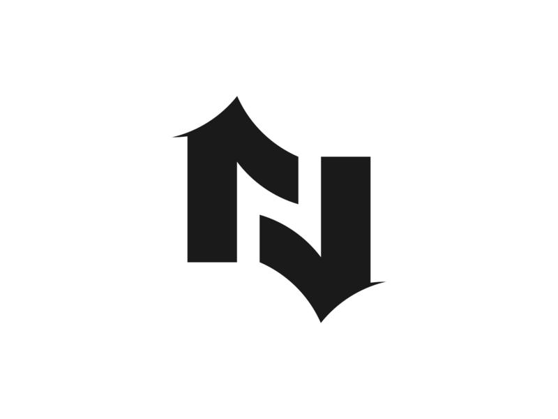 Letter N logo concept