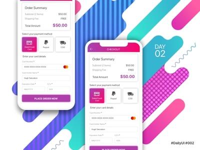 DailyUI - Credit Card Checkout
