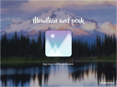 App Icon for a Mountaineering Application