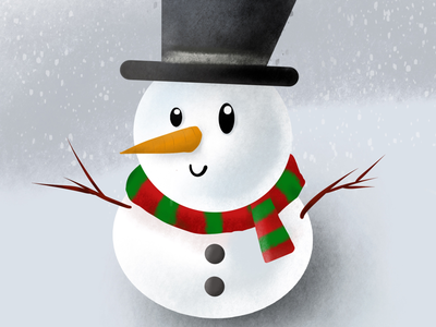 Procreate pocket : Snowman