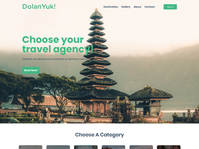 DolanYuk! Travel Agency holiday ui page landing website opentrip agency services travel
