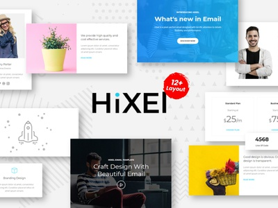 Hixel - Responsive Email Template