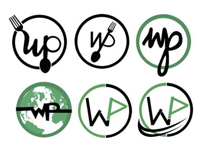 wplates dribbble draft circles new vexel black green wp food logo logos vector