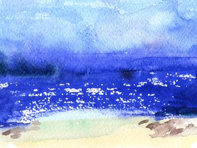 quick landscape illustration watercolor