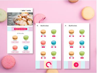 Macarons - BakeWorks ui design ux sweet tooth macaron app concept bakery