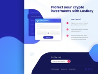 Landing page crypto security